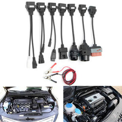 CDP TCS OBD HD Diagnostic Interface Scanner Kits PRO Cables Cars 8Pcs OBDII