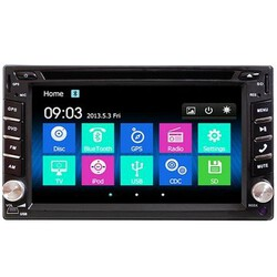 Camera TV 2DIN USB Inch Double Car Stereo DVD Player Bluetooth HD GPS Navigation