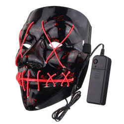 Light Different Black Fancy LED Face Creepy Colors Mask Toys Costume Party Halloween