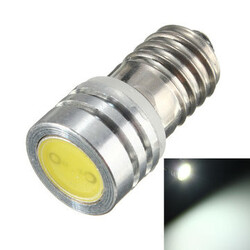 COB 1W White Car SMD Highlight Threaded Xenon Lights Bike 6V LED lamp