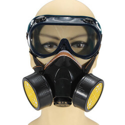 Paint Respirator Spray Mask Gas Anti-Dust Industrial Glasses Dual