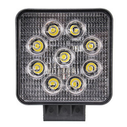 27W SUV Truck 4inch 1800LM Beam Square LED Work Light Flood Lamp For Offroad Driving