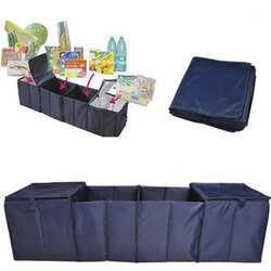 Bags Cold Thermal Storage Organizer Grid Insulation Trunk Boot Collapsible Foldable Car