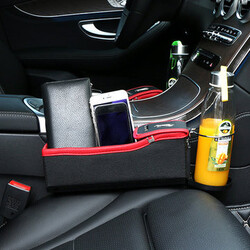 Box Pocket Beverage Leather Seat Storage Bag Pair Car Seat Gap Vehicle Coin Cup Holder
