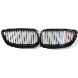 Sport Black for BMW M Style Pair E92 E93 Car Front Matt 2DR Grills 3 Series Kidney