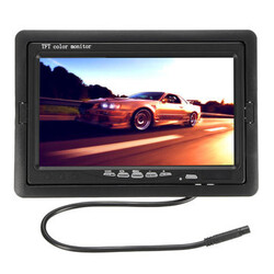 Car Rear View Parking Camera Back Waterproof TFT LCD Monitor 7Inch Reverse 170°