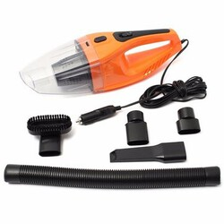 Orange Mini Portable Handheld Vacuum Cleaner Car Vehicle Wet And Dry 12V 100W
