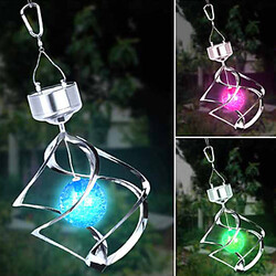 Spiral Colour Solar Led Pin Hanging Wind Changing