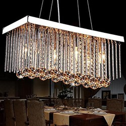Traditional/classic Chandelier Chrome Modern/contemporary Dining Room Max40w Living Room Feature For Crystal Metal Bedroom