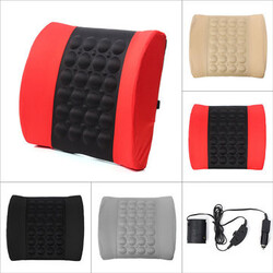 Cushion Massage Lumbar Electrical Car Back Support 12V Pillow