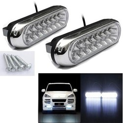 LED Light Lamp Fog 2W 12V Car Daytime Running White