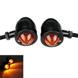 Motorcycle Turn Signal Bullet Amber Light Indicator Blinker Harley