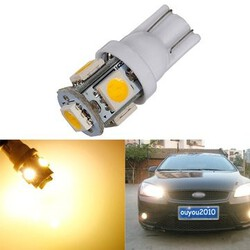 Lamp Side Light Clearance 5SMD 5050 LED Car 3000K T10 W5W Warm White