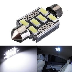 Bulbs Error Free LED C5W License Plate Lights Car 6-SMD