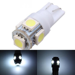 License Car Reading Light Light Lamp Xenon White Wedge Instrument W5W T10 5050 5SMD Side 80Lm