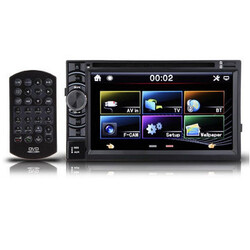 Stereo Car Double 2 DIN SD USB TV Player Bluetooth IPOD Radio In Dash 6.5 Inch DVD CD