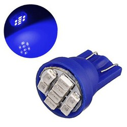 LED Car Light Wedge Bulb T10 Super Bright Ultra Blue 8-SMD