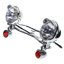 Turn Passing Harley-Davidson Honda Kawasaki Light Spotlight Lamp Vulcan Bar