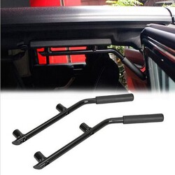 Black Metal JEEP WRANGLER JK 07-16 Rear Seat Handle Car Roll Bar Grab