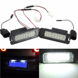Canbus LED White License Number Plate Light Passat Golf MK5 MK6 VW GTI