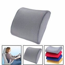 Support Cushion Seat Chair Car Office Back Memory Foam Lumbar