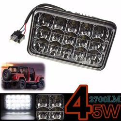 Light Lamp Flood Beam Beam Tractor 12V 24V Jeep 15LED 45W Truck Lorry Work