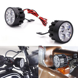 LED Light Motorcycle Pair Handlebar Scooter Bicycle Rear View Mirror Lamp 12W 10V-85V DC