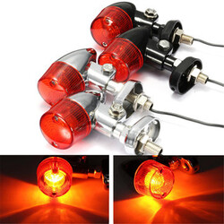 Harley Bulb Indicator Light Motorcycle Bullet Turn Signal Chopper Cruiser