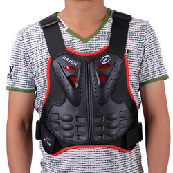 Body Gears S M L Armor Jacket Dirt Bike Motorcycle Riding Gears Green Black Red Body Vest