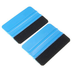 Tool Scraper Soft Wrap Squeegee Wrapping Vinyl Car Decal Applicator Felt edge