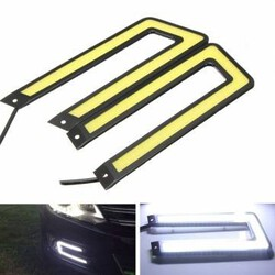 COB 6000K LED Car Fog Daytime Running Light Fog Light DRL Driving U-Shaped