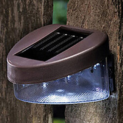 Solar Light Landscape White Light Led Fence Mount Path Wall Garden