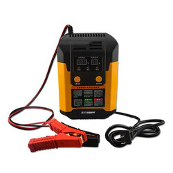 Car Motor Function Smart Fast Repair Lead Acid Battery Charger LCD Battery 12V 24V Suoer