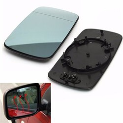 Door Electric Heated E46 Left Passenger Side Wing Mirror Glass For BMW