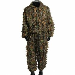 Hunting Suit Hide Woodland Camouflage Clothing Free Leaf Coat Size 3D