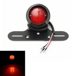 12V Universal Motorcycle Mount Tail Brake Stop Light Lamp Plate LED Rear