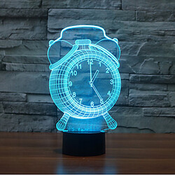 Novelty Lighting Decoration Atmosphere Lamp Clock 3d Christmas Light 100 Touch Dimming