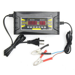 Smart Fast 12V 6A Battery Charger For Car Motorcycle LCD Display