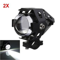 Waterproof Spotlightt Motorcycle LED Headlight 2Pcs U5 High Power 3000LM Hi Lo
