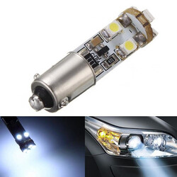 8SMD BA9S Plate 6000K Parking Light Super White Degrees LED Bulbs Mercedes