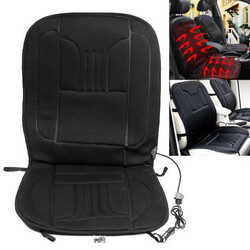 Heated Black Car Front Van Heating Seat Cover Warmer Auto Interior 12V Winter Pad Cushion