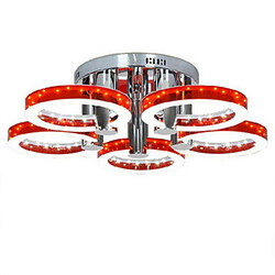 Acrylic Modern Led Lights 90w Chandelier Chrome Finish Red