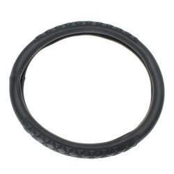 Car 3D Universal 38CM Leather Car Steel Ring Wheel