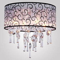Feature For Crystal Metal Modern/contemporary Living Room Electroplated Bedroom Flush Mount Drum