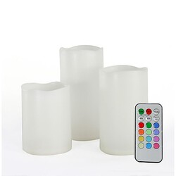 Remote Control Plastic Set Flameless Color Changing Multi-color