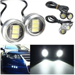 Lamp Daytime Running Light DRL Car LED Eagle Eye Lamp Up Reverse 3 Led 3W Pair