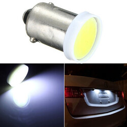 12V COB LED Bulb BA9S 2W Car Trailer Interior Light Super White Chip