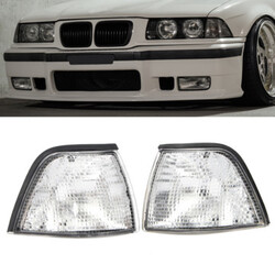 BMW E36 Coupe Clear Lens Lights 2DR Convertible Corner Side 3-Series