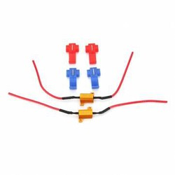 Resistors LED Car Warning Canceller Bulbs BA9S Canbus Error Free 10W