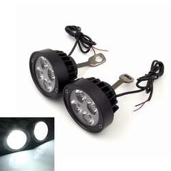 Motorcycle Super Light Waterproof Lights Spotlight LED Headlight Lamp 12V Assist